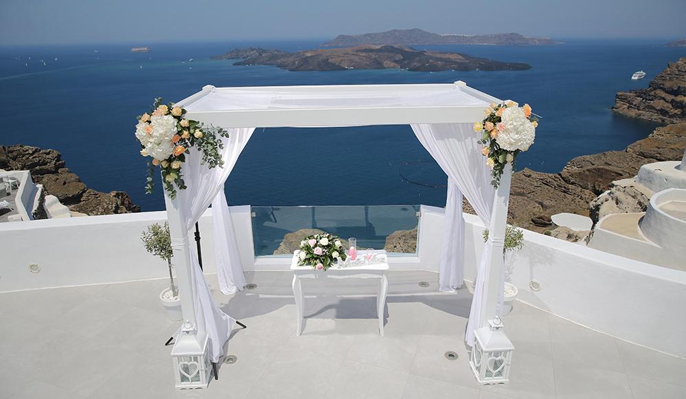 weddings and venues santorini